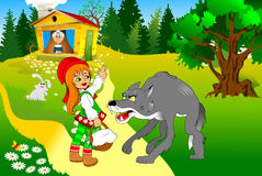 Red riding hood and her grandmother Stock Image
