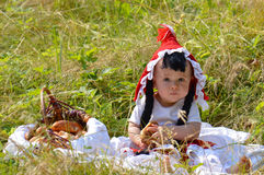 Red riding hood royalty free stock photo