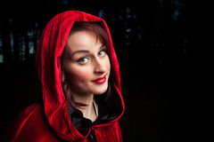 Red riding hood portrait Stock Images