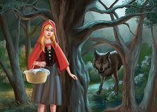 Red riding hood stock photography