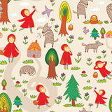 Red Riding Hood Seamless Pattern Royalty Free Stock Photo