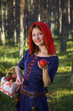 Red Riding  hood standing Royalty Free Stock Images
