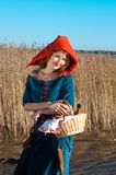 Red Riding  hood standing Stock Image