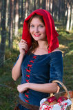 Red  Riding hood standing in a wood Stock Photography