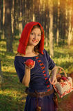 Red Riding  hood standing Royalty Free Stock Photography