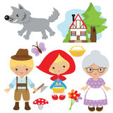 Red Riding Hood vector illustration Royalty Free Stock Photography