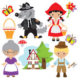 Red Riding Hood vector illustration Royalty Free Stock Image