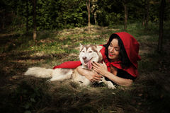 Red riding hood and the wolf Royalty Free Stock Images