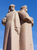 The Red Riflemen Monument in Riga Royalty Free Stock Photo