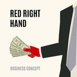 Red right hand Royalty Free Stock Photography