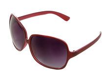 Red rimmed sunglasses Stock Photo