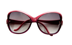 Red rimmed vintage sunglasses. Isolated on white background. Clipping path included Stock Photos