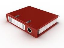 Red ring binder Stock Photo
