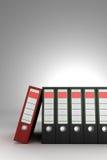 Red ring binder Stock Photos