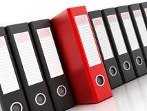 Red ring binder Stock Image