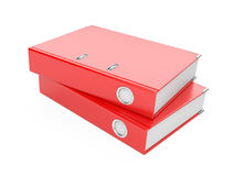 A red  ring binder Royalty Free Stock Photos