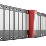 Red ring binder. Isolated on a white background. 3d render Stock Image