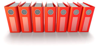 Red Ring binders Stock Image