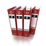 Red ring binders Stock Photo
