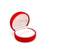 Red ring box. Isolated on white background royalty free stock photo