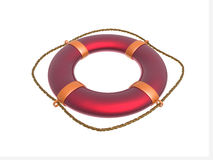 Red ring-buoy Stock Images