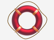 Red ring-buoy Royalty Free Stock Images