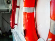 Red ring buoy Royalty Free Stock Photos