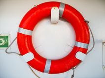 Red ring. Buoy on white background Stock Photos
