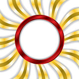 Red ring with gold twirls background Royalty Free Stock Image
