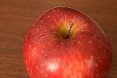 Red ripe apple. Beautiful delicious red ripe apple Royalty Free Stock Image