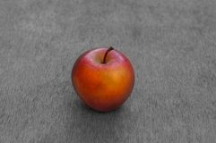 Red ripe apple on black white  background Royalty Free Stock Image