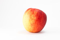 Red ripe apple. Red ripe apple isolate on white background stock image