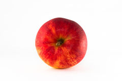 Red ripe apple. Red ripe apple isolate  on white background royalty free stock photos