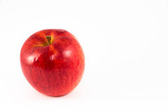 Red ripe apple. Red ripe apple isolate on white background / blank space for text stock photography
