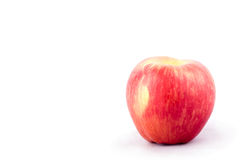 Red ripe apple on white background healthy apple fruit food isolated Stock Photography