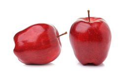 Red ripe apple on white background Stock Image