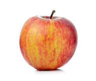Red ripe apple on white background Stock Photo