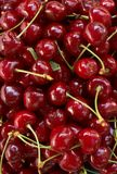 Red-ripe cherry Stock Photos