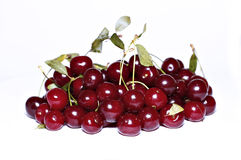 Red ripe cherry berries isolated Stock Image