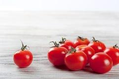 Red ripe cherry tomatoes Stock Photo