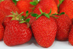 Red ripe fresh juicy strawberry Stock Image