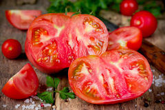 Red ripe fresh tomatoes Royalty Free Stock Images
