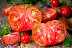 Red ripe fresh tomatoes Royalty Free Stock Photo