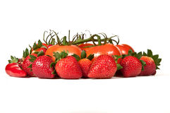 Red ripe fruits and vegetables Royalty Free Stock Photography
