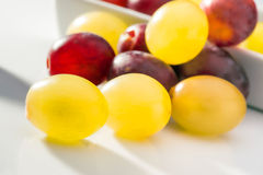 Red ripe grapes and green Stock Photos