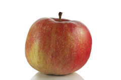 Red ripe juicy apple Stock Images