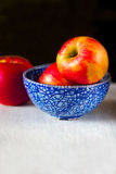 Red ripe juicy apples Stock Photo
