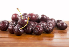 Red, ripe, juicy cherries Royalty Free Stock Photography