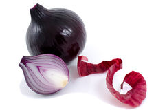 Red, ripe onions. Stock Photos