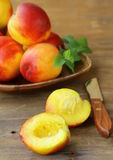Red ripe peaches Royalty Free Stock Photos